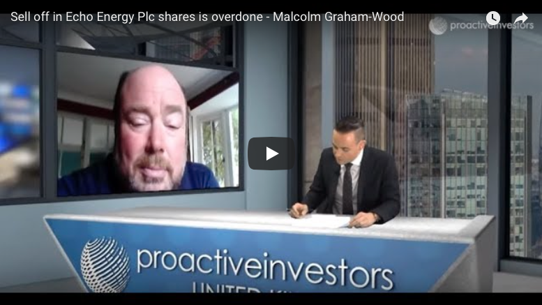 Proactive Investors interview: Sell off in Echo Energy Plc shares is overdone