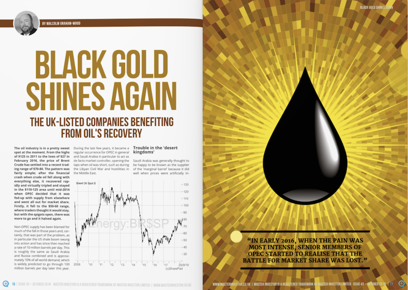 "Master Investor magazine article: ""Black Gold Shines Again"""